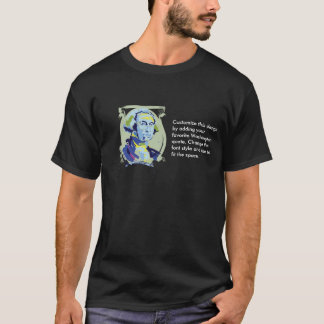 George Washington Customizable Text T-Shirt