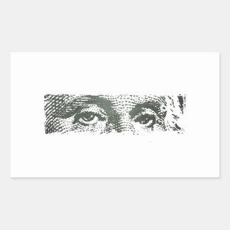 George Washington Dollar Bill Cash Money Sticker
