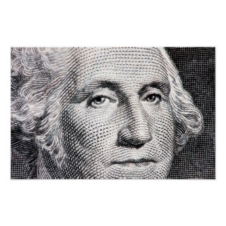 george washington dollar bill poster