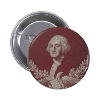 George Washington Eagle Stars Stripes USA Portrait 2 Inch Round Button