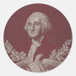 George Washington Eagle Stars Stripes USA Portrait Classic Round Sticker