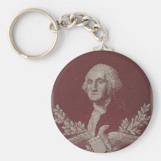 George Washington Eagle Stars Stripes USA Portrait Keychain