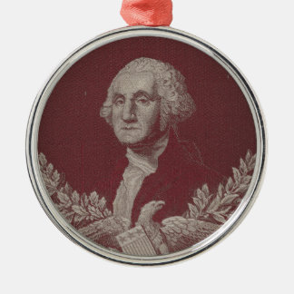 George Washington Eagle Stars Stripes USA Portrait Metal Ornament