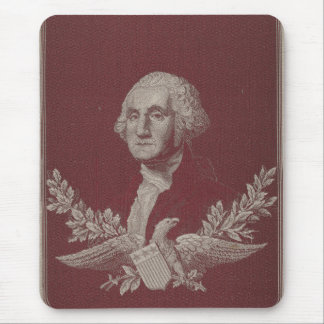 George Washington Eagle Stars Stripes USA Portrait Mouse Pad