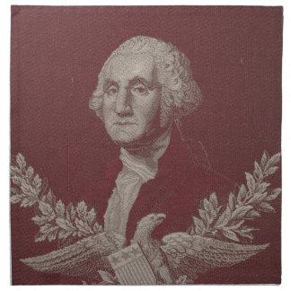 George Washington Eagle Stars Stripes USA Portrait Napkin