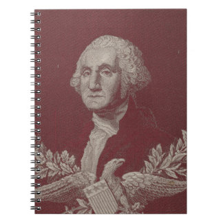 George Washington Eagle Stars Stripes USA Portrait Notebooks