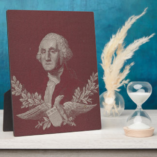 George Washington Eagle Stars Stripes USA Portrait Plaque