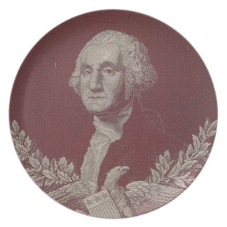 George Washington Eagle Stars Stripes USA Portrait Plate