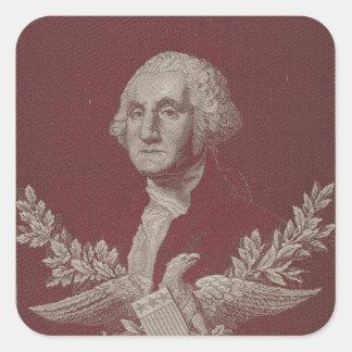 George Washington Eagle Stars Stripes USA Portrait Square Sticker