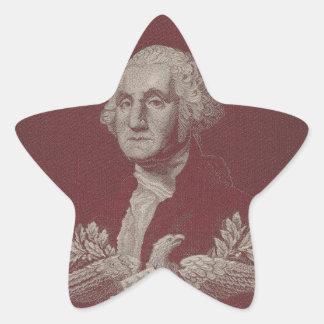 George Washington Eagle Stars Stripes USA Portrait Star Sticker