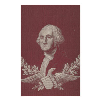 George Washington Eagle Stars Stripes USA Portrait Stationery