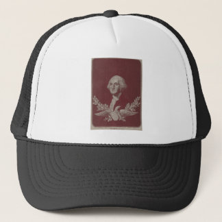 George Washington Eagle Stars Stripes USA Portrait Trucker Hat
