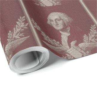 George Washington Eagle Stars Stripes USA Portrait Wrapping Paper
