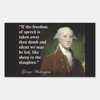 George Washington Freedom of Speech Quote