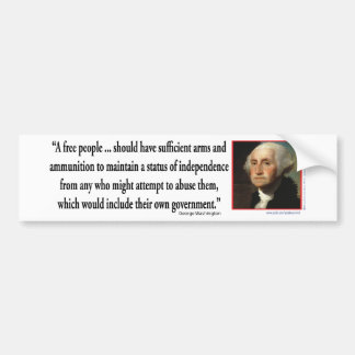 George Washington on Gun Rights Bumper Sticker