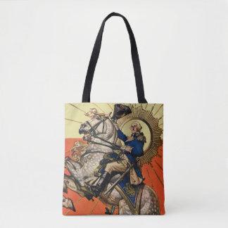 George Washington on Horseback Tote Bag