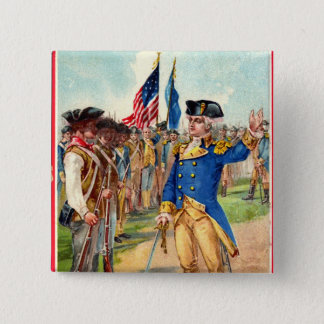 George Washington Patriotic 2 Inch Square Button