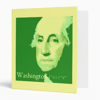 George Washington PopArt 3 Ring Binder