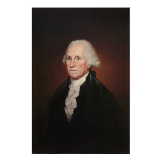 GEORGE WASHINGTON Portrait by Rembrandt Peale Poster