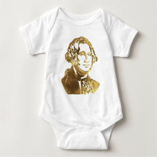 George Washington Portrait Gold Look Elegant Baby Bodysuit