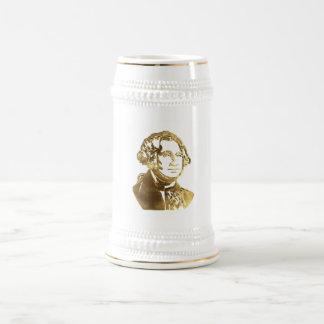 George Washington Portrait Gold Look Elegant Beer Stein