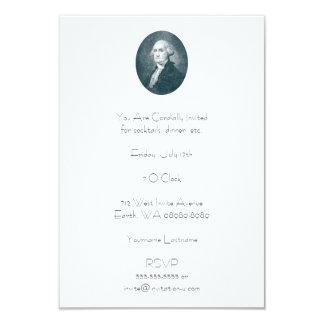 George Washington Portrait Oval Card