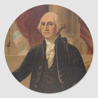 George Washington Portrait Round Sticker