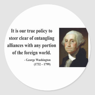 George Washington Quote 5b Classic Round Sticker