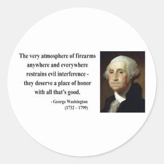 George Washington Quote 7b Classic Round Sticker