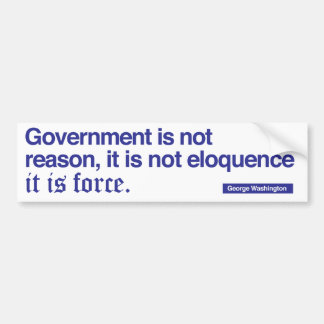 George Washington Quote / Blue on white Bumper Sticker