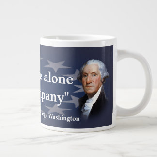George Washington Quote on Bad Company Giant Coffee Mug