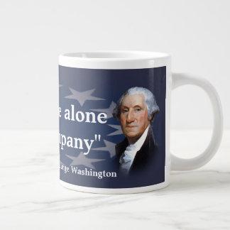 George Washington Quote on Bad Company Large Coffee Mug