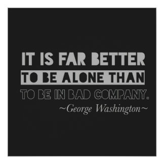 George Washington Quote Typography Black & Gray Poster