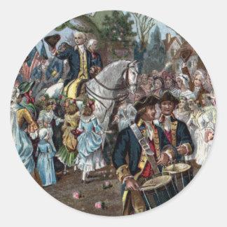 George Washington Returns to Trenton Classic Round Sticker