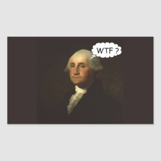 George Washington Spinning in His Grave Sticker