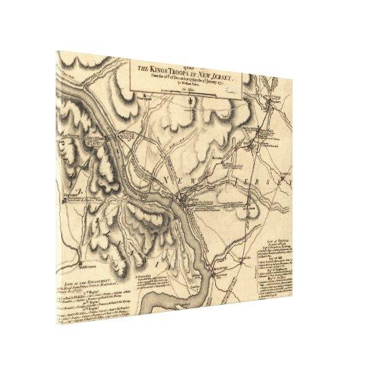 George Washington Trenton NJ Battlefield Map 1777 Canvas Print