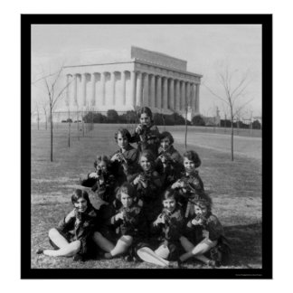 George Washington University Girls Rifle Team 1927 Poster