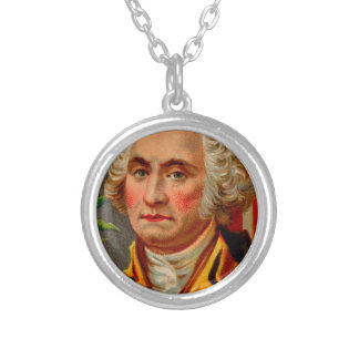 George Washington Vintage Silver Plated Necklace