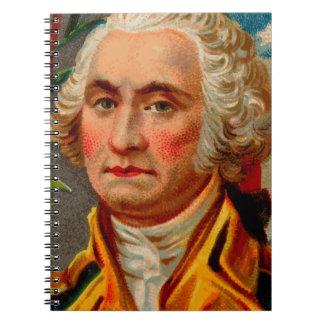 George Washington Vintage Spiral Notebook