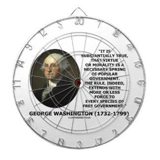 George Washington Virtue Morality Popular Gov t Dartboard With Darts