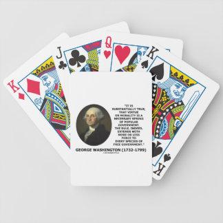 George Washington Virtue Morality Popular Gov't Card Decks