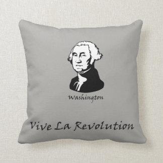 George Washington - Vive La Revolution Throw Pillow