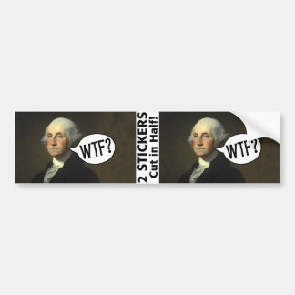 George Washington WTF - 2 stickers
