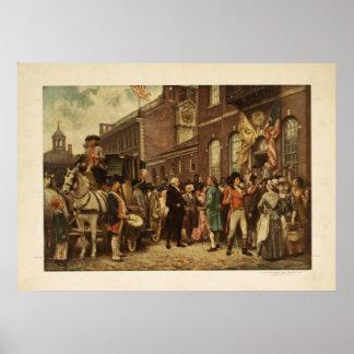 George Washington's Inauguration at Philadelphia Poster