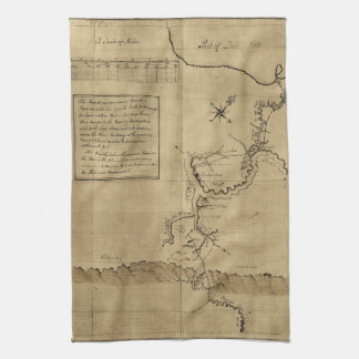 George Washington's Journal to the Ohio 1754 Kitchen Towel