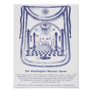 George Washington's Masonic Apron Poster