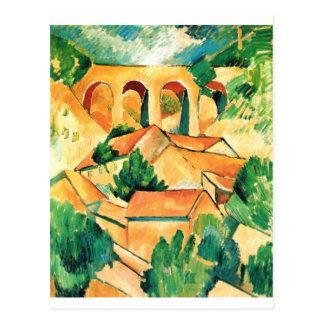 Georges Braque - Viaduc de l'Estaque Painting Postcard