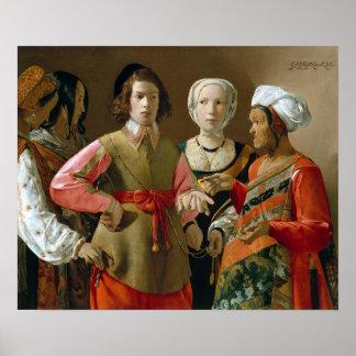 Georges de La Tour The Fortune-Teller Poster