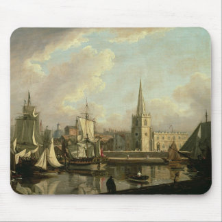 George's Dock Basin, Liverpool, 1797 (oil on canva Mouse Pad