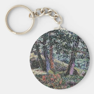 Georges Lacombe- Oaks and Blueberry Bushes Keychain